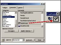 Customizing Word toolbars